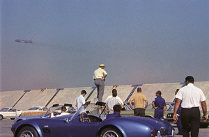Sid Avery photographing the 1967 Shelby cars at Shelby