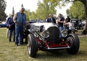 Jay Leno with his 1923 Bentley at Woodley Park in California / April 6, 2008© 2008 Ron Avery - Image 3846_1687