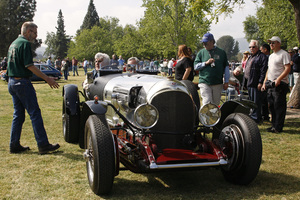 Jay Leno with his 1923 Bentley at Woodley Park in California / April 6, 2008© 2008 Ron Avery - Image 3846_1690