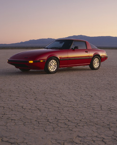 Cars1983 Mazda RX-7 GLSE (El Mirage Dry Lake bed) © 2009 Ron Avery - Image 3846_1785