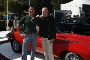 Ian Callum with Ron Avery and his 1965 Jaguar E-Type 4.2 Coupe in Pebble Beach, California08-17-2012© 2012 Toni Avery - Image 3846_2061