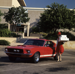 Cars 1967 Shelby GT 500 September 1966 Sherman Oaks Fashion Square © 1978 Sid Avery - Image 3846_2171