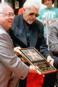 James Coburn receiving his star on the Hollywood Walk of FameApril 1, 1994 © 1994 Mirek Szepietowski - Image 3893_00033