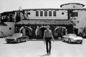 James Coburn with his 250 GT California and Lusso Ferrari at his Los Angeles home1966© 1978 David Sutton - Image 3893_0036