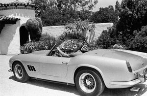James Coburn with his Ferrari 250 GT California at his Los Angeles home1966 © 1978 David Sutton - Image 3893_0037