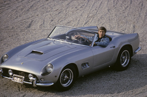 James Coburn with his Ferrari 250 GT California at his Los Angeles home1966 © 1978 David Sutton - Image 3893_0067