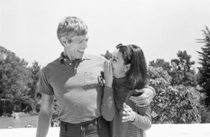James Coburn and his wife Beverly Kelly at home1966© 1978 David Sutton - Image 3893_0140