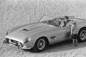 James Coburn and his son, James H. Coburn IV, with his Ferrari 250 GT California at his Los Angeles home1966© 1978 David Sutton - Image 3893_0146