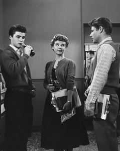 """The Adventures of Ozzie & Harriet""Ricky Nelson, Yvonne Lime, David Nelson1958Photo by Joe Shere - Image 3933_0049"