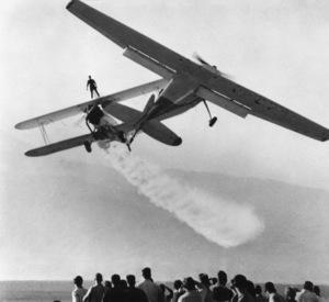 Stunt man Carol DrageNovember 11, 1960 - Image 3934_0040