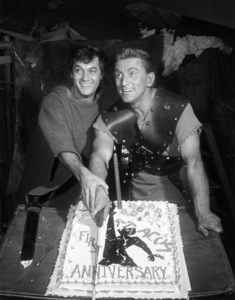 """Tony Curtis and Kirk Douglas on the set of """"Spartacus""""1960 Universal** B.D.M. - Image 3942_1054"""