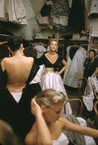 """""""Fashion""""Backstage at Balmain circa 1955 © 2000 Mark Shaw - Image 3956_0879"""