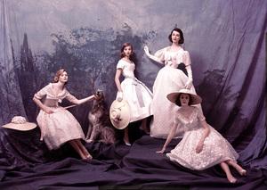 """""""Fashion"""" Victorian group shotcirca 1955 © 2000 Mark Shaw - Image 3956_0885"""