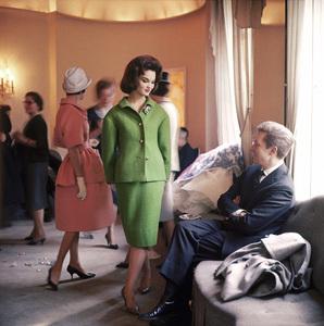 """Fashion""London Post debutante Henrietta Tiarks models Nina Ricci man-tailored suit in Ricci"