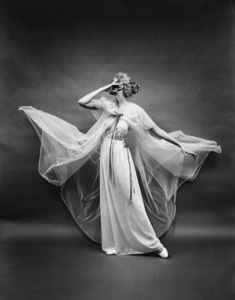 """Fashion""Model wearing Vanity Fair gowncirca 1950 © 2005 Mark Shaw - Image 3956_0944"