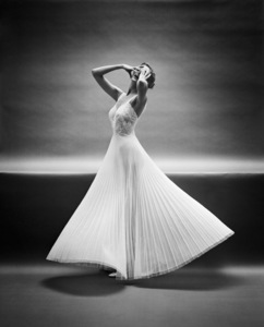 """Fashion""Model wearing Vanity Fair gowncirca 1950 © 2005 Mark Shaw - Image 3956_0948"