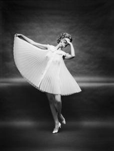 """Fashion""Model wearing Vanity Fair gowncirca 1950 © 2005 Mark Shaw - Image 3956_0949"