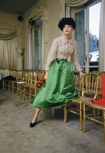 Model in Spring 1954 collection at the salon of Balenciaga in Paris 1954 © 2008 Mark Shaw - Image 3956_0981