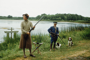 Madame Mario Rigaud in France with gamekeeper1957 © 2010 Mark Shaw  - Image 3956_1037