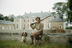 Madame Mario Rigaud in France with gamekeeper1957 © 2010 Mark Shaw  - Image 3956_1038
