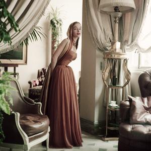 A fashion model at Christian Dior