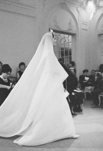Dior fashion model Kouka wearing Marc Bohan