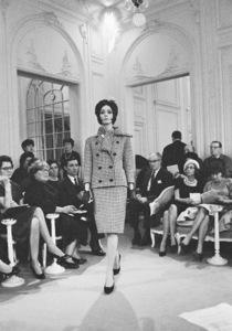 Dior fashion model Kouka wearing