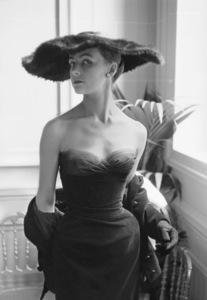 Dior fashion model Eugenie Pompon wearing