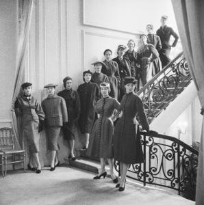 Dior fashion models wearing the Autumn-Winter 1953 Haute Couture collection, Vivante line1953© 2013 Mark Shaw - Image 3956_1182