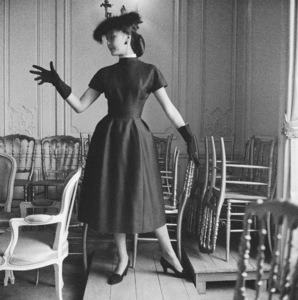 Dior fashion model Alla wearing a