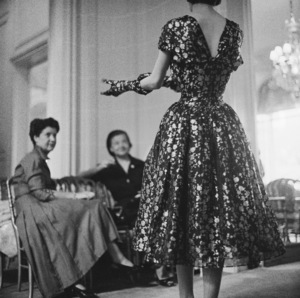 Dior fashion model wearing an ensemble from