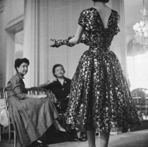 Dior fashion model wearing an ensemble from