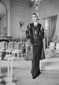 Dior fashion model Odile wearing