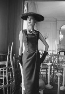 Dior fashion model wearing the