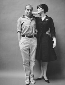 Photographer Mark Shaw and Dior fashion modelcirca 1960© 2013 Mark Shaw - Image 3956_1195