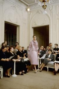 Dior fashion model Odile wearing the