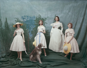 Dior fashion models in Christian Dior-New York collection (Spring-Summer 1956)1956© 2013 Mark Shaw - Image 3956_1201