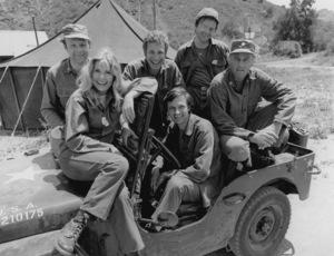 """M.A.S.H."" Loretta Swit,Alan Alda,McLean StevensonLarry Linville,Wayne Rogers,Gary Burghoff1975Photo by Gabi Rona - Image 3958_0147"