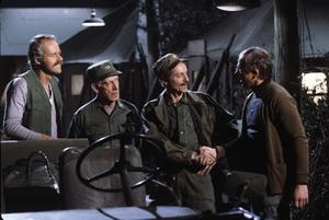"""M*A*S*H""Mike Farrell, Harry Morgan, Allan Arbus, William Christophercirca 1976© 1978 Gene Trindl - Image 3958_0171"