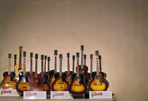 Musical Instruments (Gibson guitars)circa 1960s© 1978 Gene Howard - Image 3965_0107