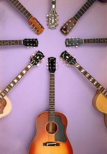 Musical Instruments (Gibson guitars)circa 1960s© 1978 Gene Howard - Image 3965_0108