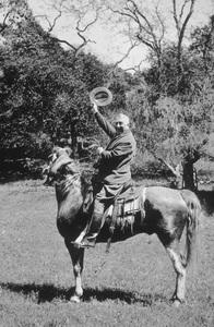 William Randolph Hearst on a horse at Hearst Castlecirca 1934 - Image 3984_0006