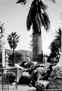 William Randolph Hearst and son George at Hearst Castlecirca 1935 - Image 3984_0007