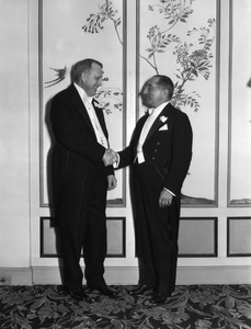 William Randolph Hearst shaking hands with Louis B. Mayercirca 1930 - Image 3984_0008