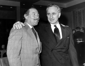 Tennessee Williams & Elia Kazan C. 1965 - Image 4015_0006