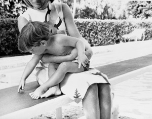 John Kennedy Jr. and Jacqueline Kennedy at Palm Beach1963 © 2000 Mark Shaw - Image 4027_0047