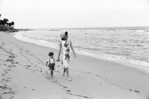 John Kennedy Jr. and Jacqueline Kennedy at Palm Beach1963 © 2000 Mark Shaw - Image 4027_0048