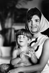 John Kennedy Jr. and Jacqueline Kennedy at Palm Beach1963 © 2000 Mark Shaw - Image 4027_0050