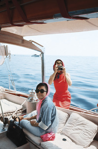 Jacqueline Kennedy and Pat Suzuki in Ravello, Italy1962© 2012 Mark Shaw - Image 4027_0179