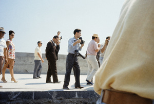 Photographers in Ravello, Italy trying to get a picture of Jacqueline Kennedy during her visit there1962© 2012 Mark Shaw - Image 4027_0180